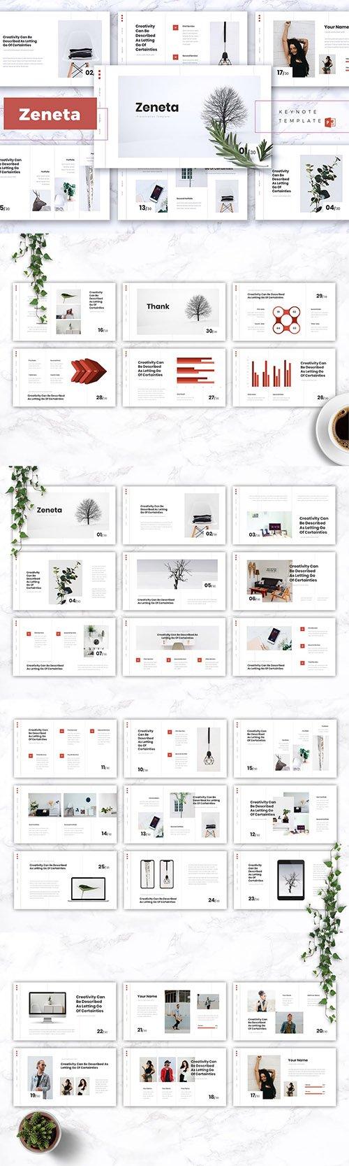 ZENETA - Creative Powerpoint, Keynote and Google Slides Templates