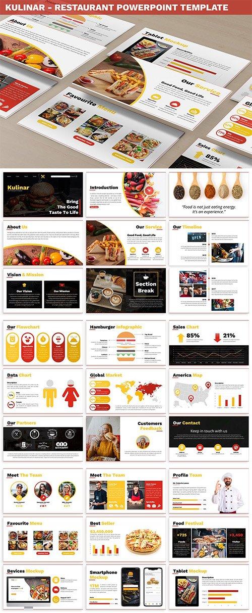 Kulinar - Restaurant Powerpoint Template