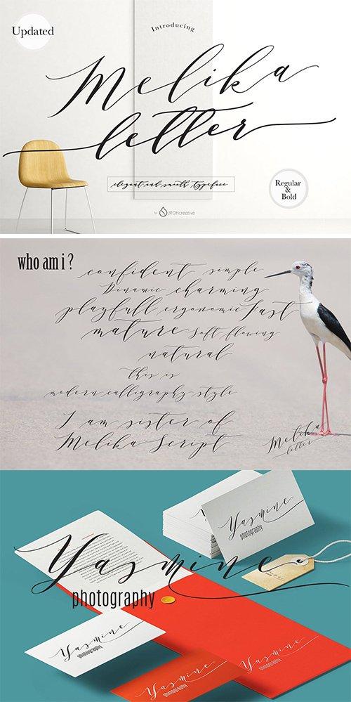 Melika Letter Font Script