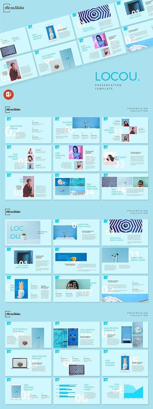 Locou - Fashion Powerpoint, Keynote and Google Slides Templates