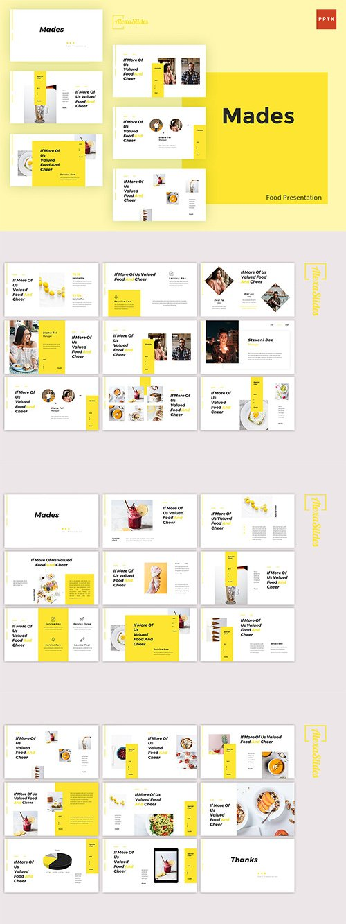 Mades - Food Powerpoint, Keynote and Google Slides Templates