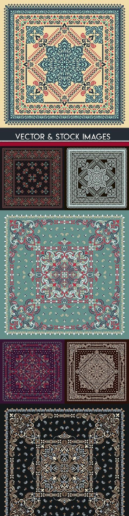 Bandana decorative ornament ethnic elegant fabric