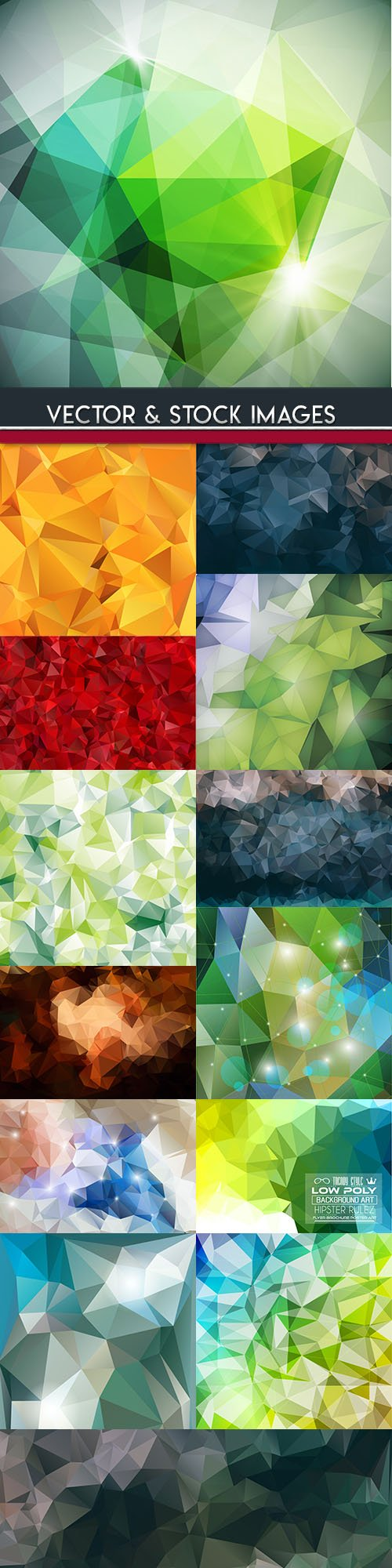 Polygon abstract creative modern background