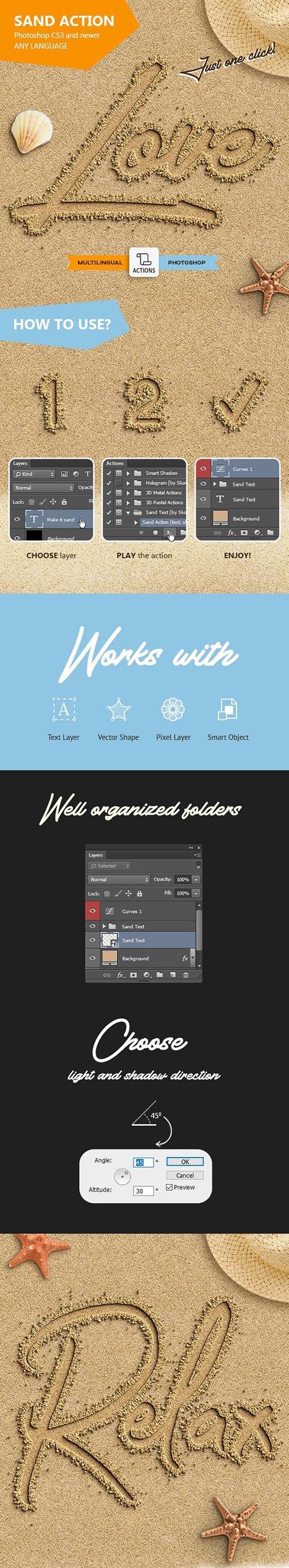 Sand Text - Photoshop Action 24068228