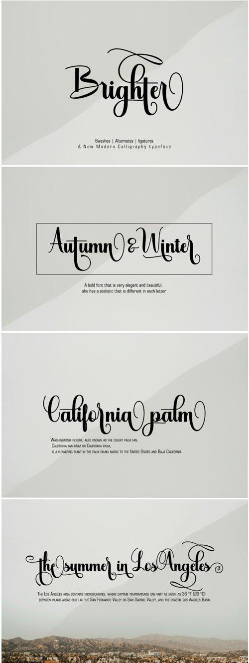 Brighter Font