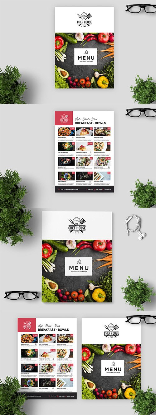 Minimal Restaurant Cafe Menu / Flyer