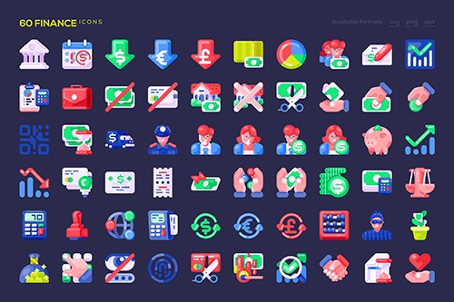 60 Finance Icons