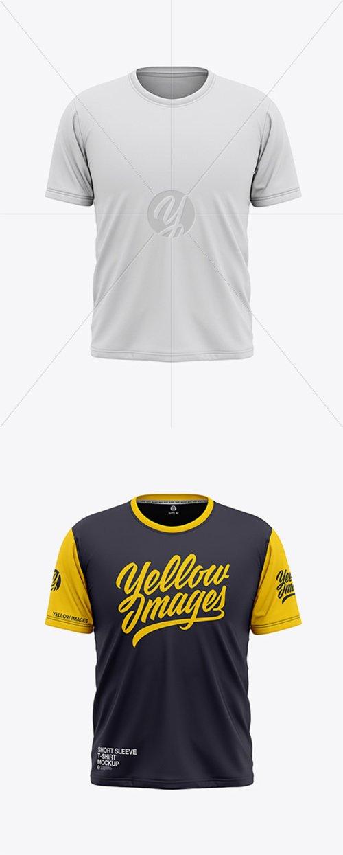 Men's Short Sleeve T-Shirt Mockup - Front View 36642 TIF