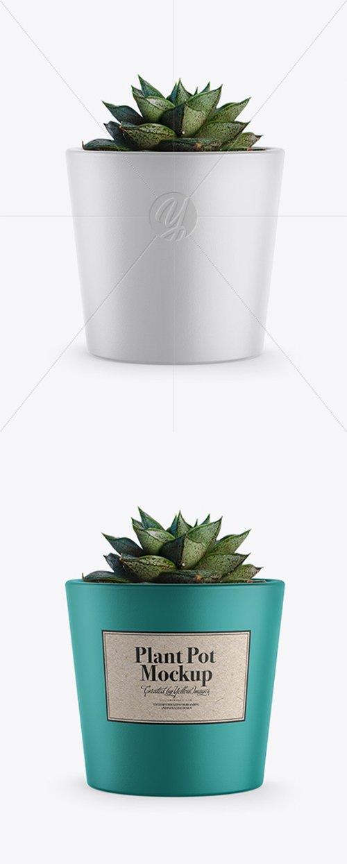 Ceramic Plant Pot Mockup 36675 TIF