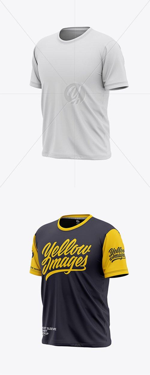 Men's Short Sleeve T-Shirt Mockup - Front Half Side View 36736 TIF