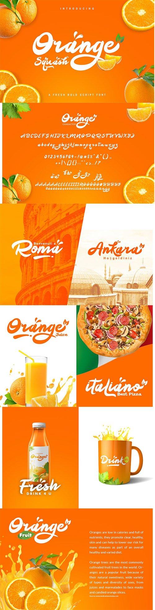 Orange Squash Font