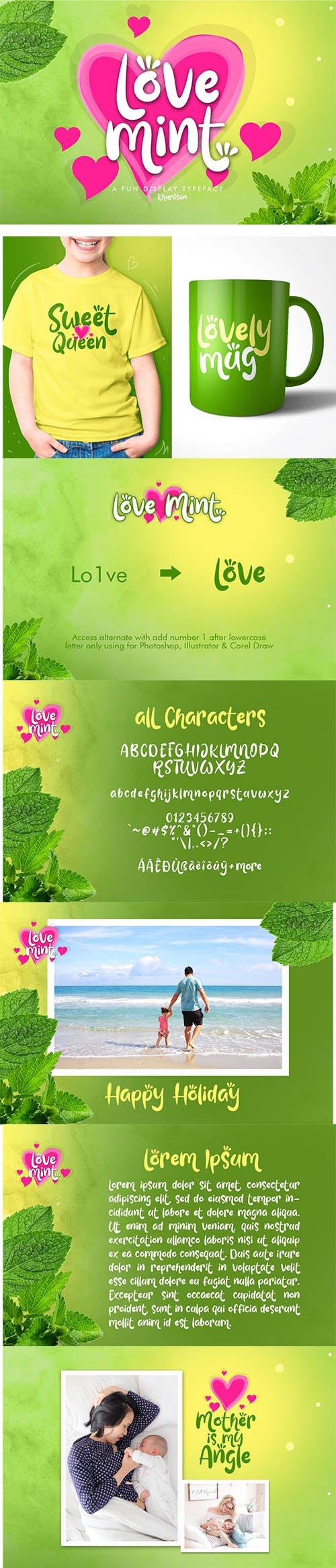 Love Mint Font