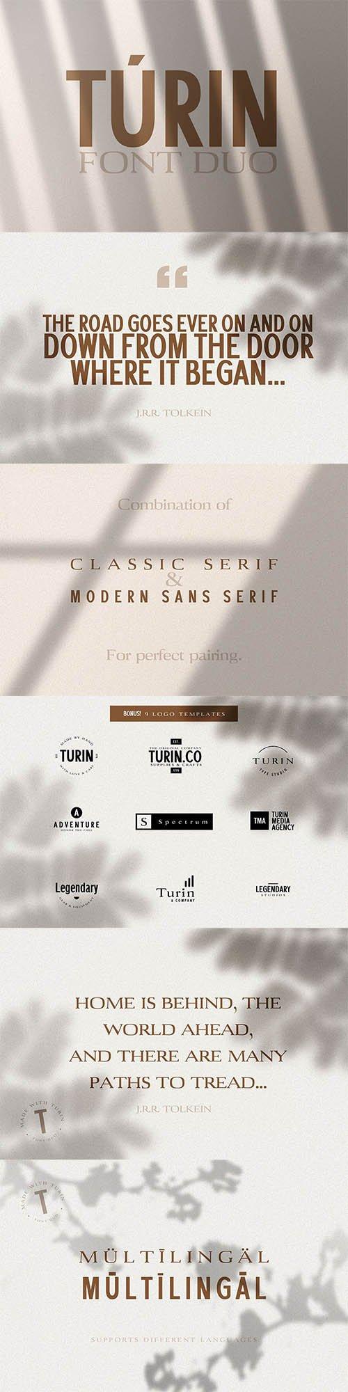 Turin - Sans-Serif & Serif Duo