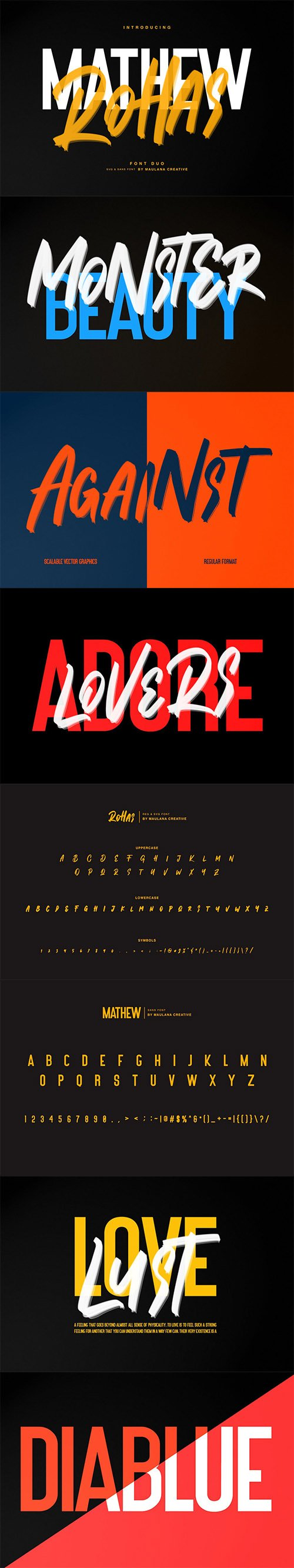 Mathew Rohas Brush Font Duo