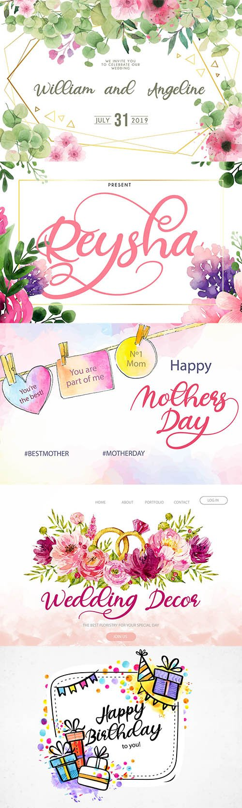 Reysha | Flower Script Font