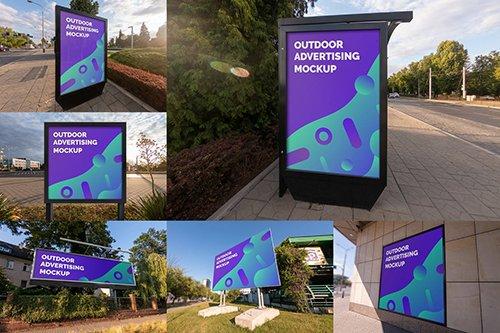 Outdoor Advertising Mockups vol.2