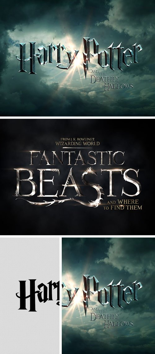Magic Movies Photoshop Text Effects