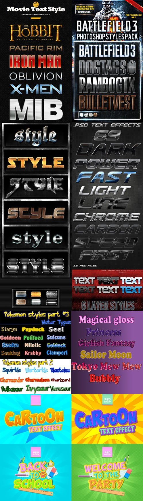 60 Wonderful Text Effects & Styles for Photoshop