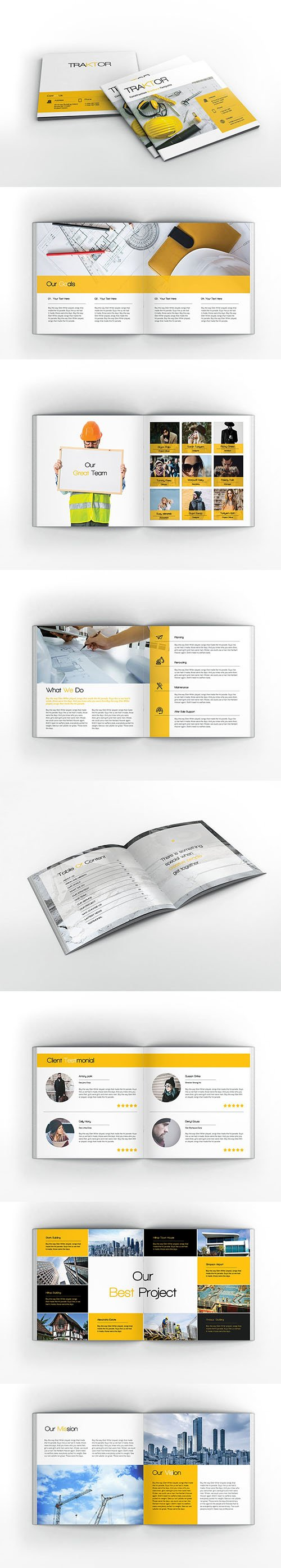 Construction Square Indesign Brochure