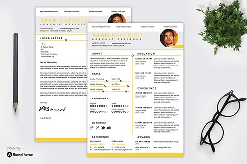 Clean PSD and AI Resume vol. 20