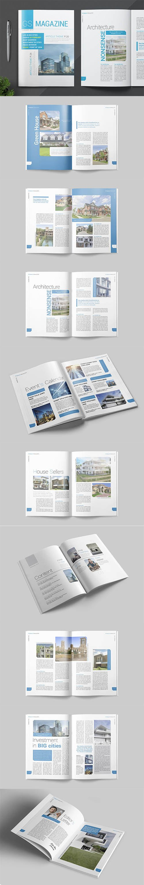 Magazine Template INDD