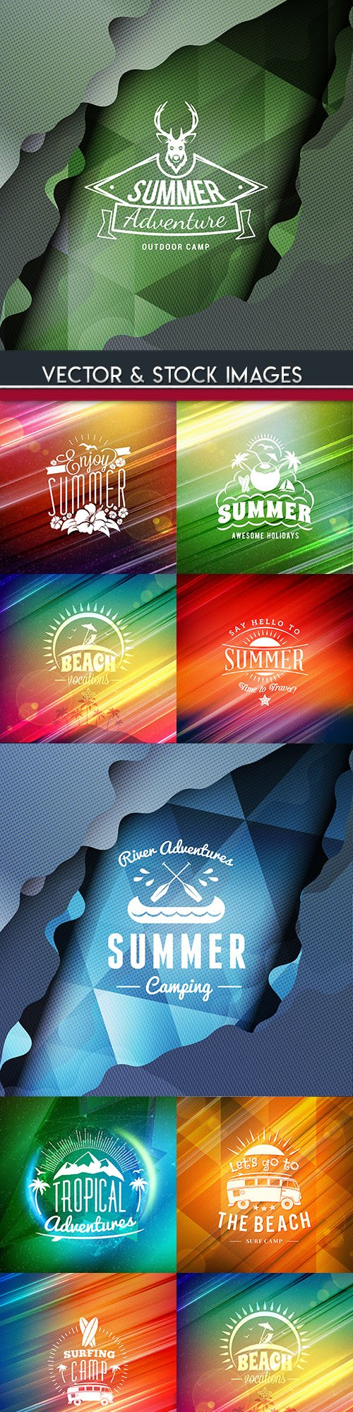 Summer tropical hipster holiday illustration banner