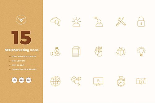 SEO Marketing Vector Icons
