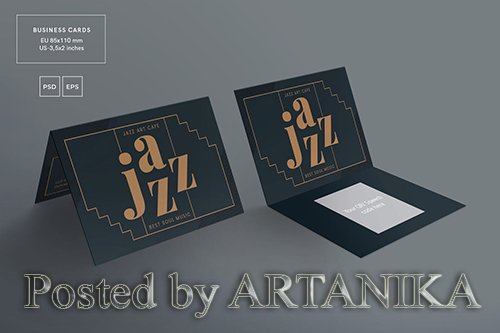 Jazz Festival Business Card Template