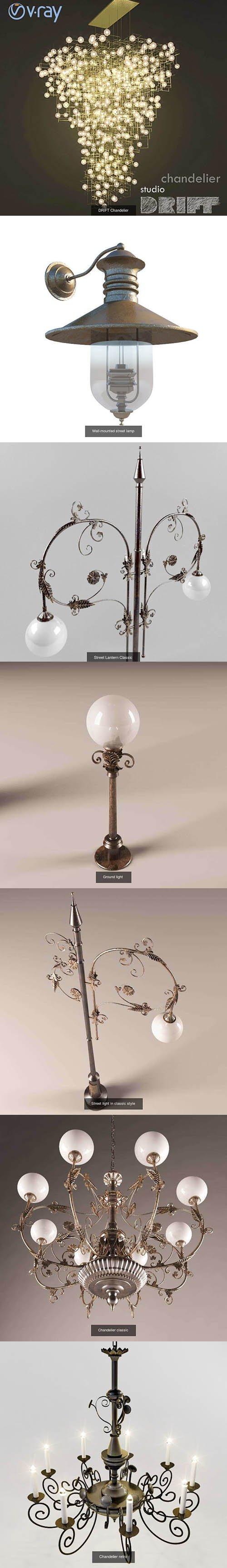 Lighting bundle 3D Model Collection