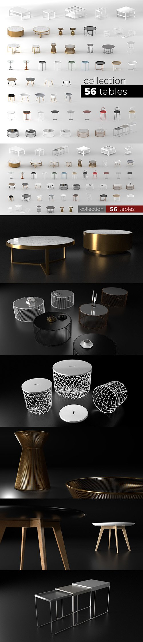 Tables collection 3D model