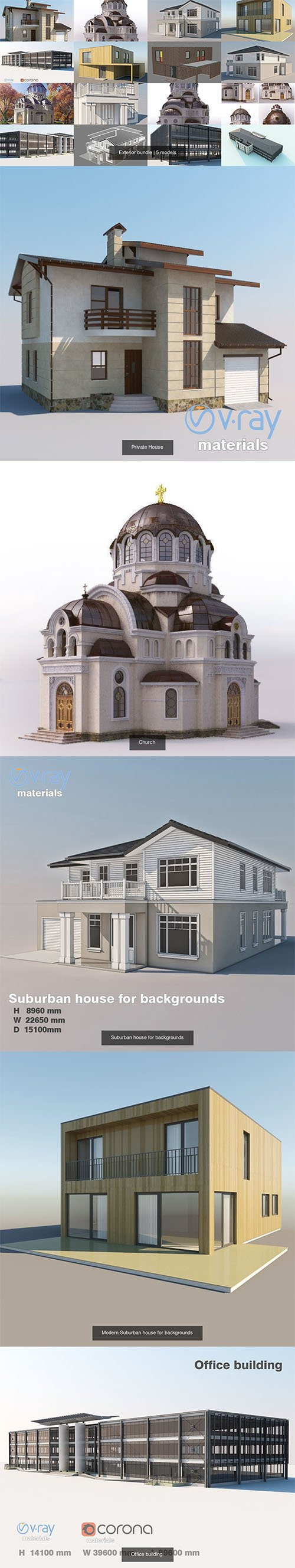 Exterior bundle 3D Model Collection