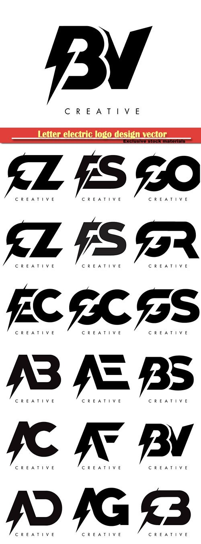 Letter electric logo design vector illustration # 2