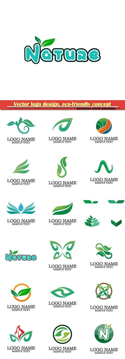 Vector logo design, eco-friendly concept