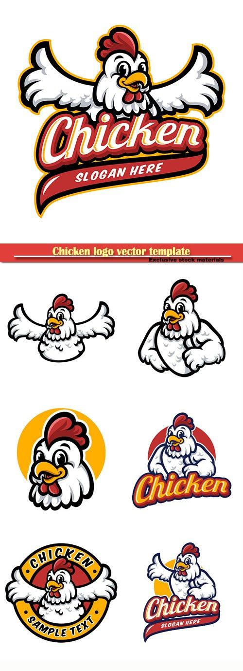 Chicken logo vector template