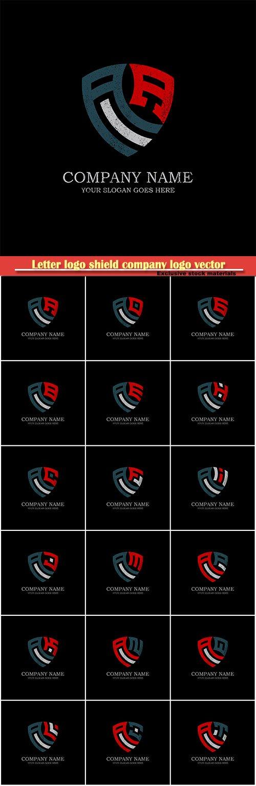 Letter logo shield company logo vector