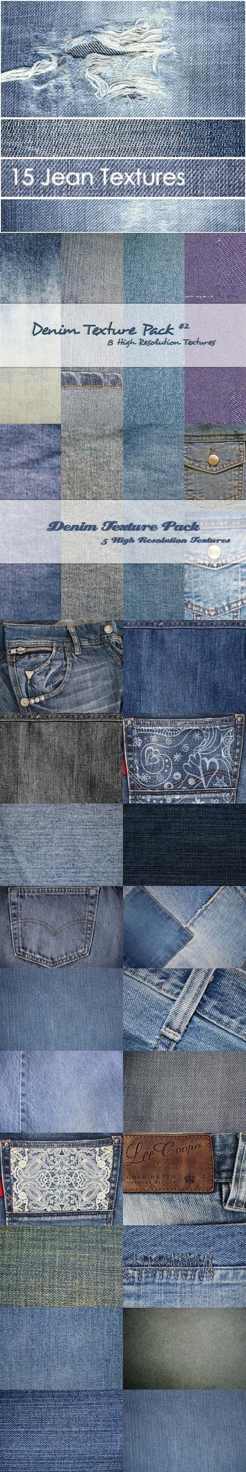 102 Jeans Textures Collection