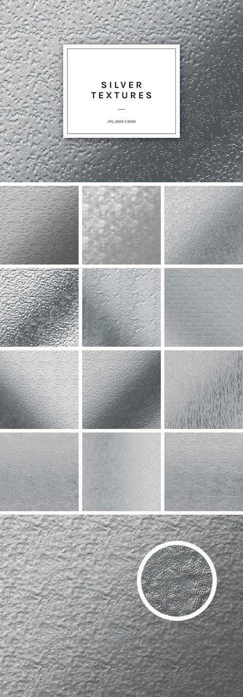 12 Silver Foil Textures