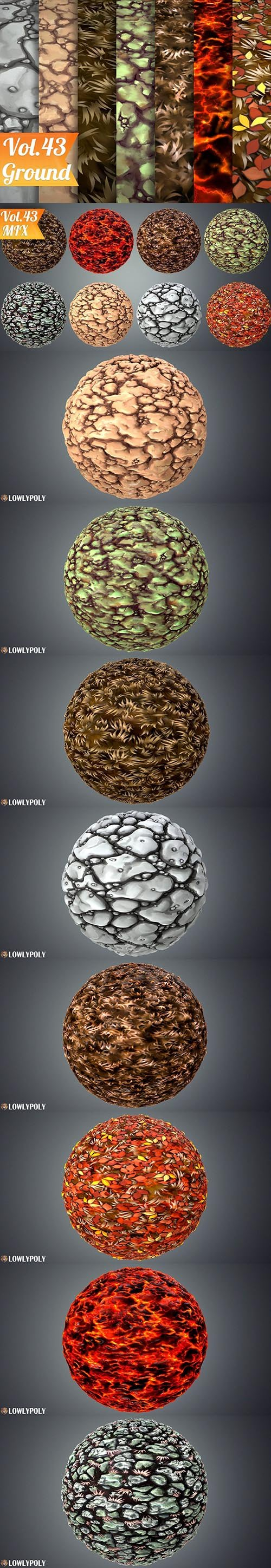Stylized Ground Vol 43 - Hand Painted Texture Pack Texture