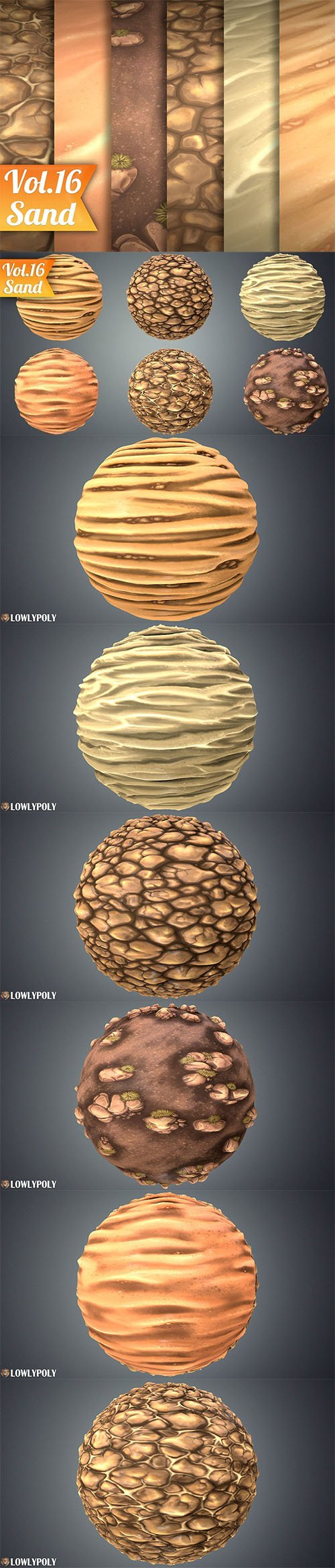 Stylized Sand Vol 16 - Hand Painted Texture Pack Texture