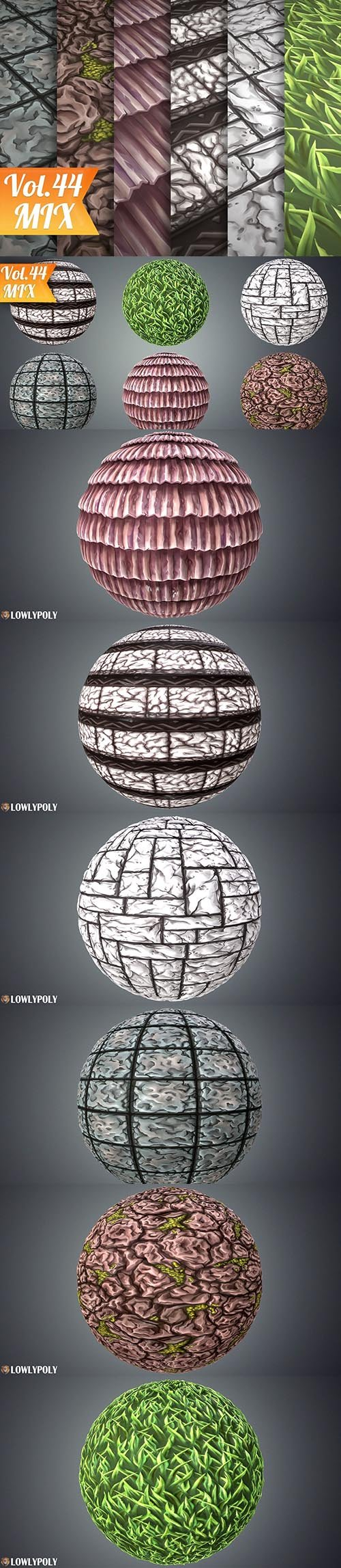 Stylized Mix Vol 44 - Hand Painted Texture Pack Texture