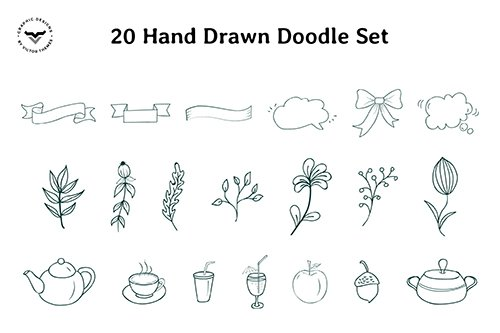 Hand Drawn Doodle Vector Set