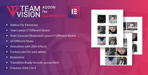 CodeCanyon - Teamvision for Elementor WordPress Plugin v1.0 - 24230334