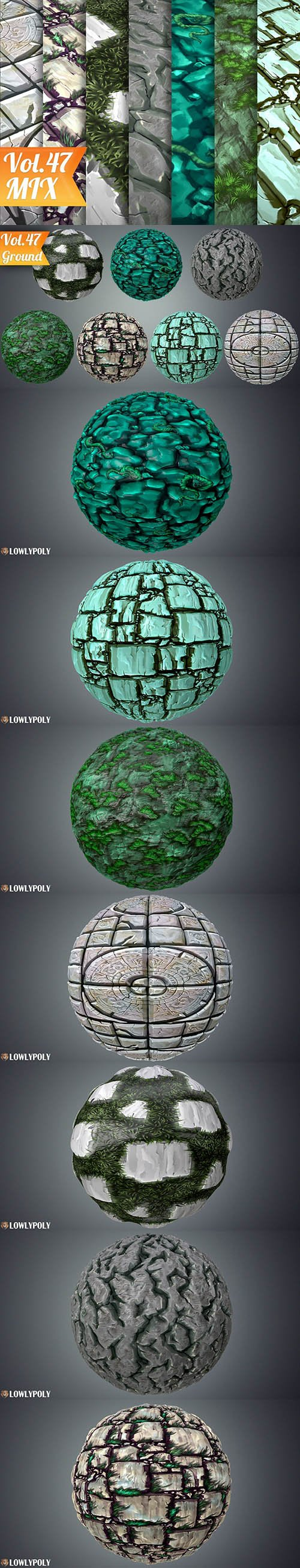Stylized Ground Vol 47 - Hand Painted Texture Pack Texture