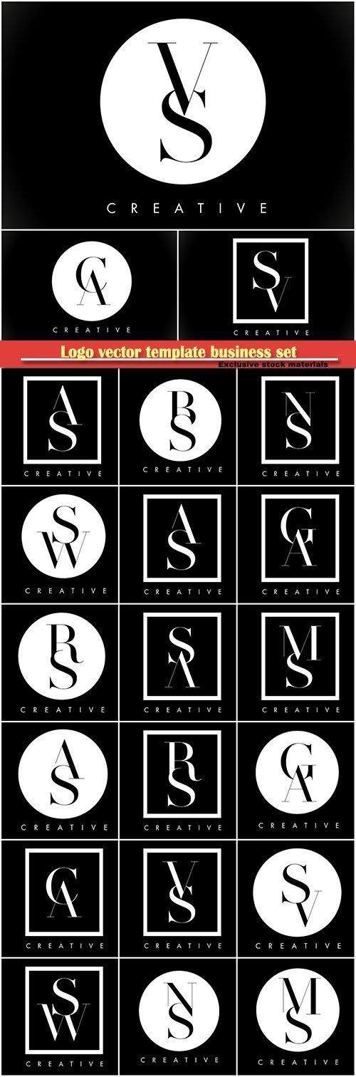 Logo vector template business set # 2