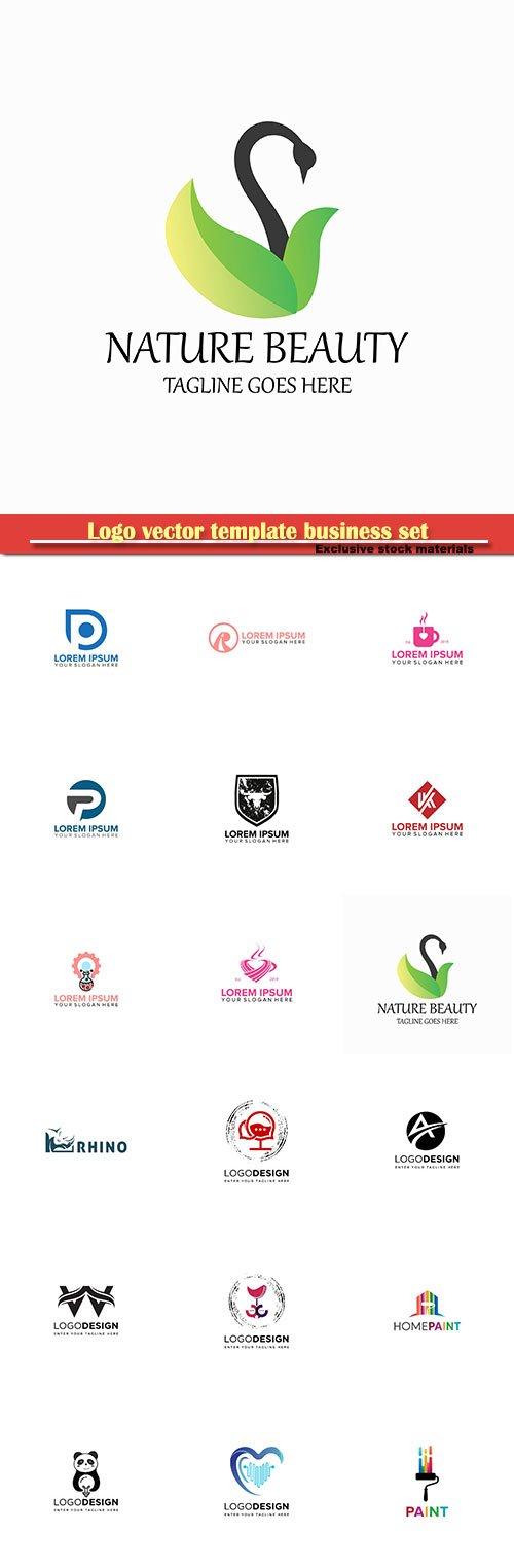 Logo vector template business set # 6