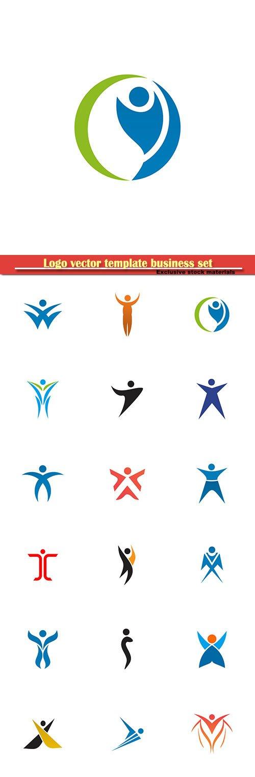 Logo vector template business set # 9
