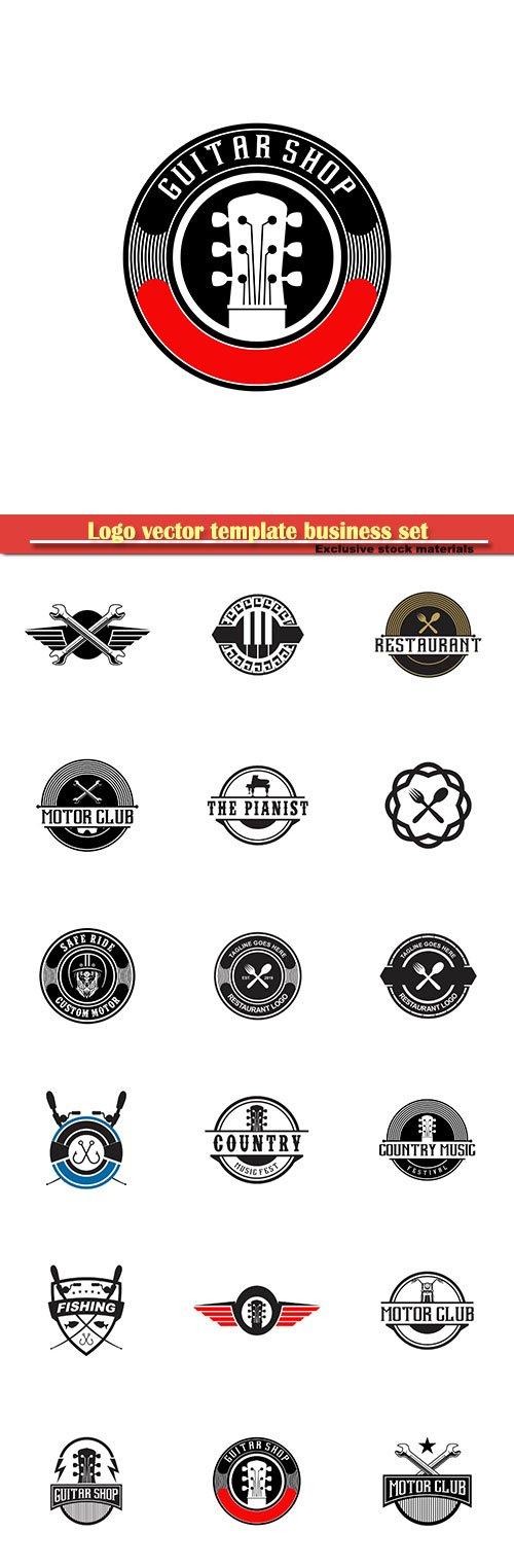 Logo vector template business set # 8
