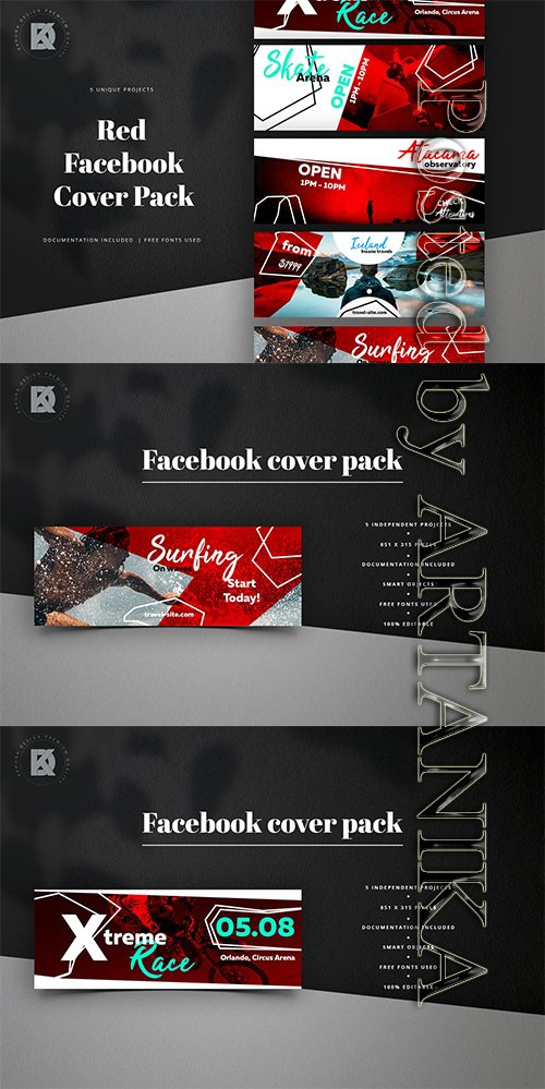 Facebook Red Cover Pack