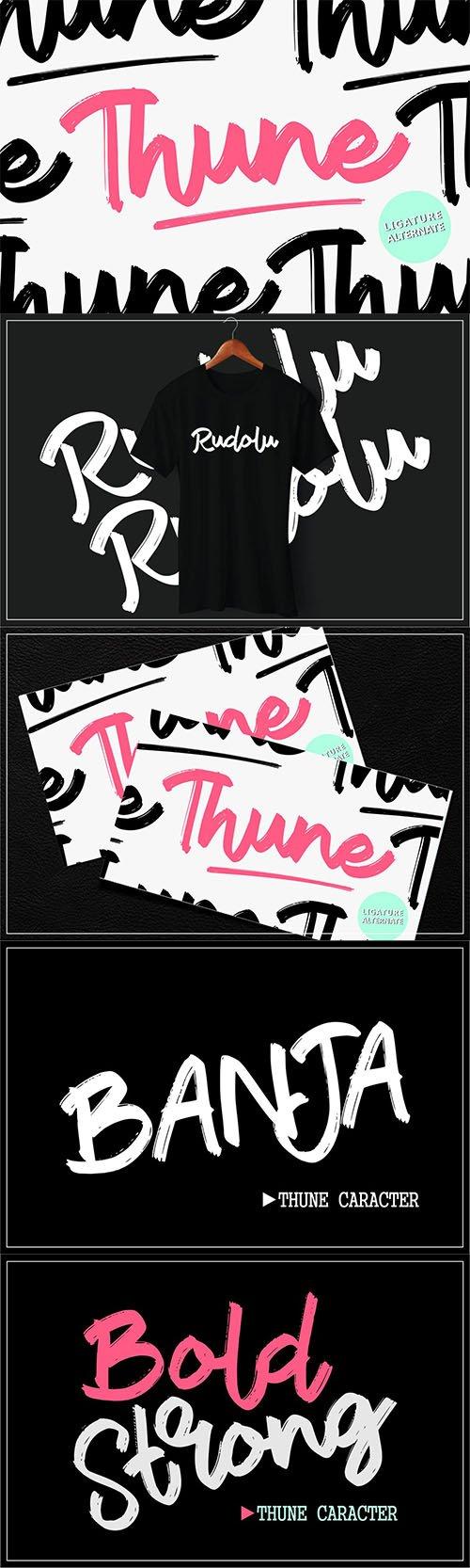 Thune   Bold Brush Font