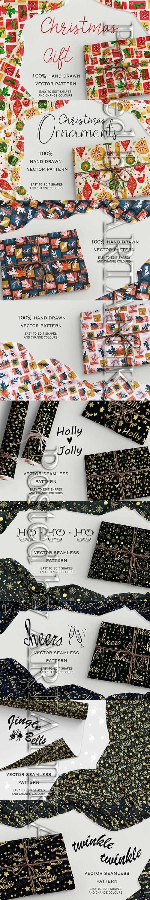 Christmas Seamless Gift Pattern Pack 2019